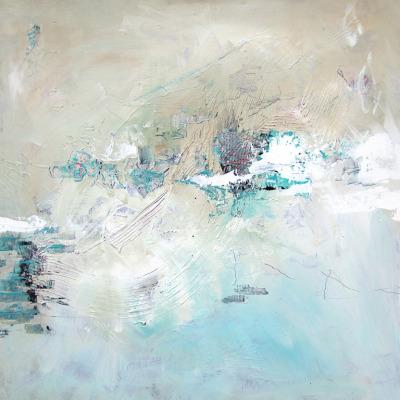 John Baran-- Winter Disturbance, 36 x 36 in., acrylic on canvas -- $3,000.00